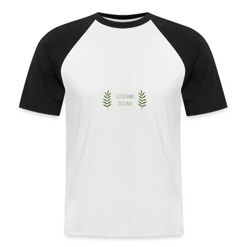 Sustainable Existence Logo (Green) - Men's Baseball T-Shirt