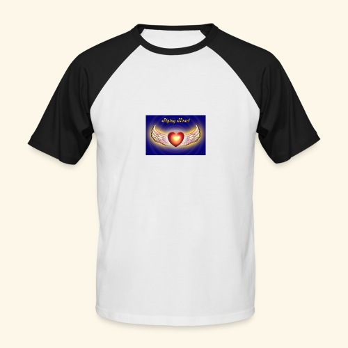 Flying Heart - Männer Baseball-T-Shirt