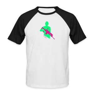 Knallige Farben - Shooter - Let's Shoot - Männer Baseball-T-Shirt