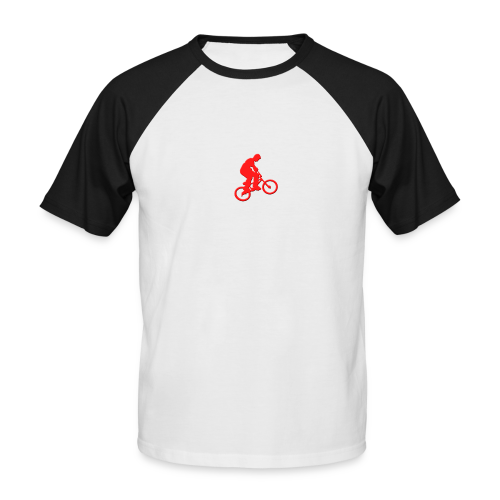 Red BMX Rider - Men's Baseball T-Shirt