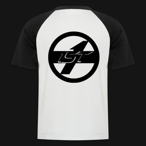 1ST Logo - Männer Baseball-T-Shirt