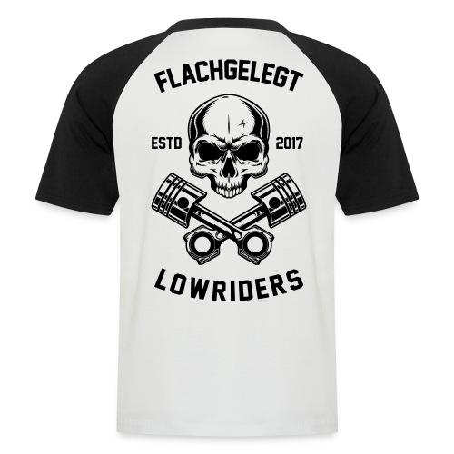 flachgelegt lowrider skull 2 back - Männer Baseball-T-Shirt