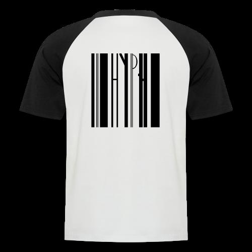 Barcode tee transparent - Männer Baseball-T-Shirt