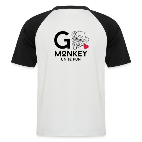 GO MONKEY - Unite fun - Kortermet baseball skjorte for menn
