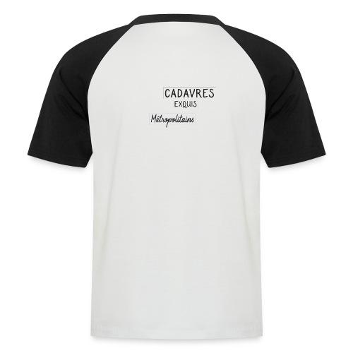 Cadavres Exquis Métropolitains - T-shirt baseball manches courtes Homme
