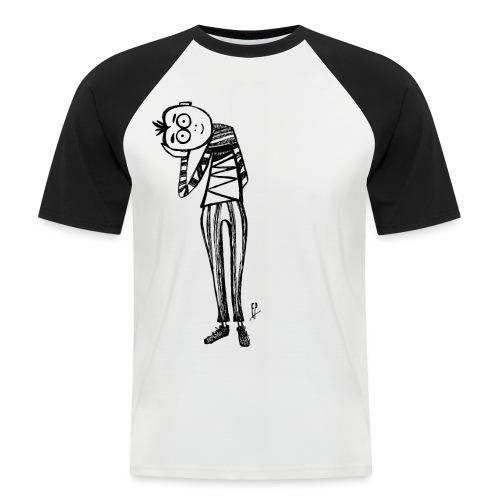 Punto di vista in bianco e nero - Maglia da baseball a manica corta da uomo
