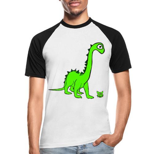 dinosauro - Maglia da baseball a manica corta da uomo