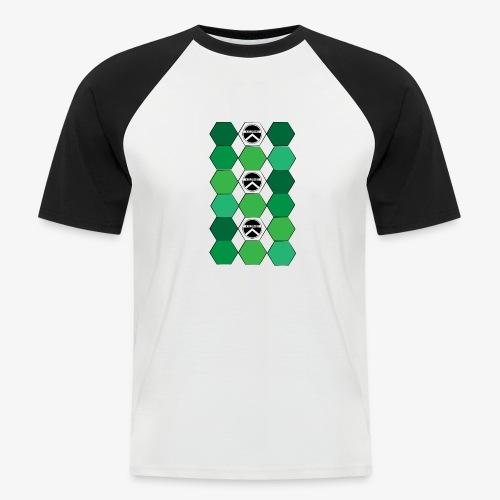  K·CLOTHES  HEXAGON ESSENCE GREENS & WHITE - Camiseta béisbol manga corta hombre