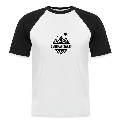 sabat logo black - Kortærmet herre-baseballshirt