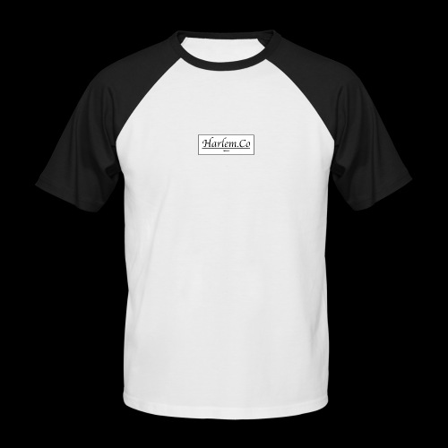 Harlem Co logo White and Black - Men's Baseball T-Shirt