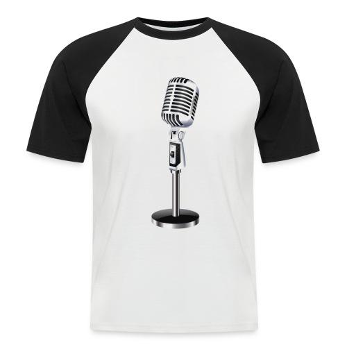 En Mikrofon T-Skjorte - Kortermet baseball skjorte for menn