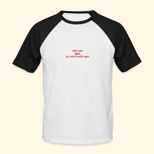 Good bye and thank you - Men's Baseball T-Shirt