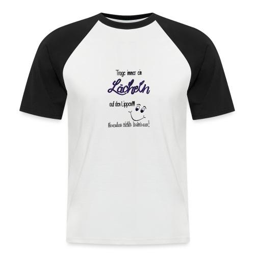 Lächeln - Männer Baseball-T-Shirt