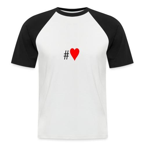 Hashtag Heart - Men's Baseball T-Shirt