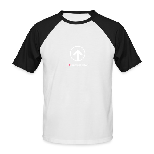 Conversionator mit Pfeil (weiß) - Männer Baseball-T-Shirt