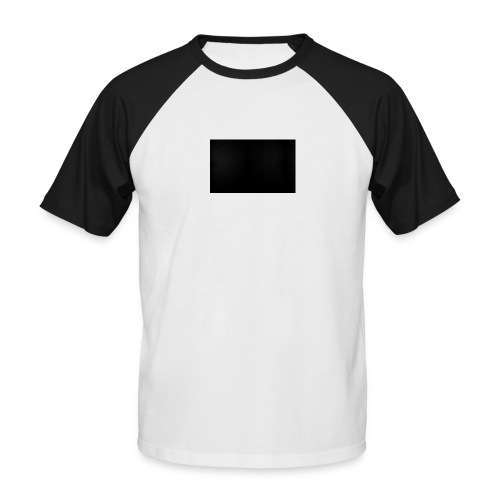 Fond Noir - T-shirt baseball manches courtes Homme