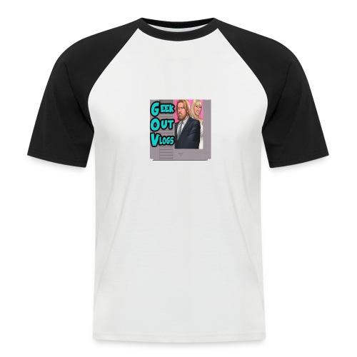 GeekOut Vlogs NES logo - Men's Baseball T-Shirt