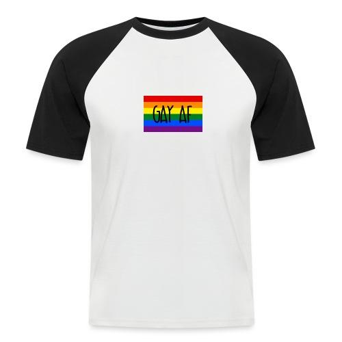 gay af - Männer Baseball-T-Shirt