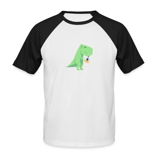 Tea-Saurus - Männer Baseball-T-Shirt