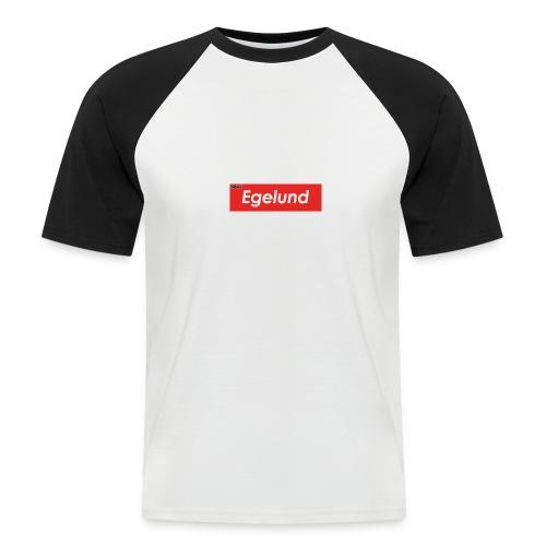 Albert Egelund Box Logo - Kortærmet herre-baseballshirt
