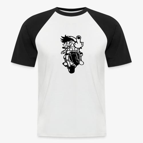 Wheelie Stinkefinger - Männer Baseball-T-Shirt