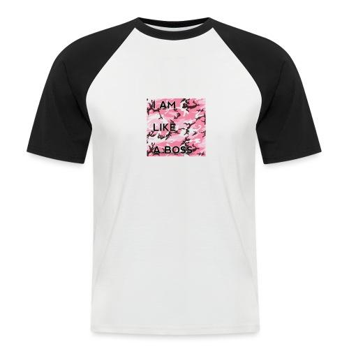 i am loke a boss premium pink camo - Männer Baseball-T-Shirt
