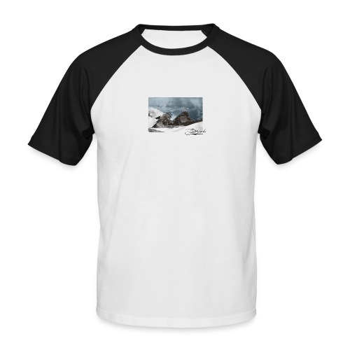 Mountains Colorized - Camiseta béisbol manga corta hombre