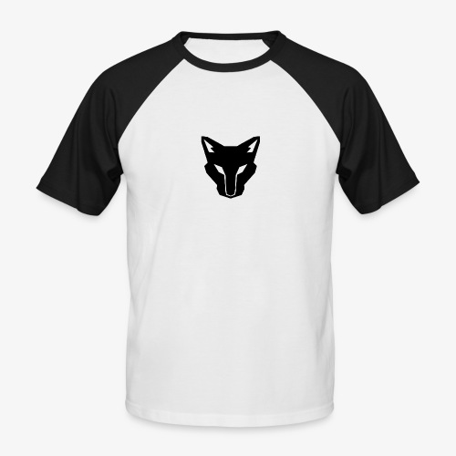 OokamiShirt Noir - T-shirt baseball manches courtes Homme