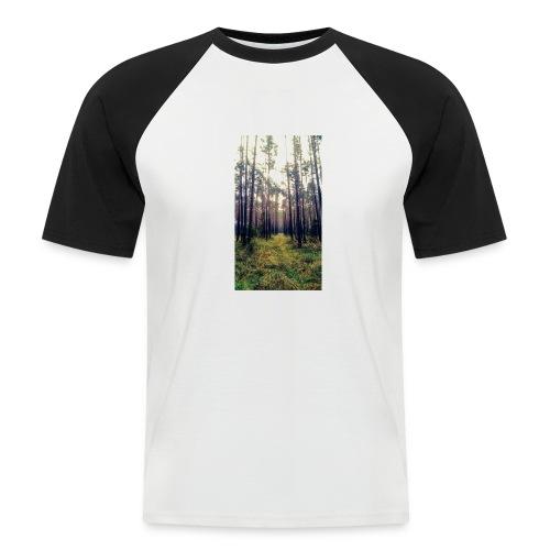 Las we mgle - Koszulka bejsbolowa męska
