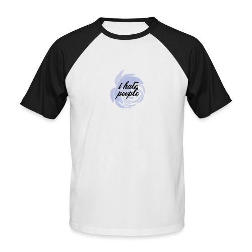 I Hate People Blue - Men's Baseball T-Shirt