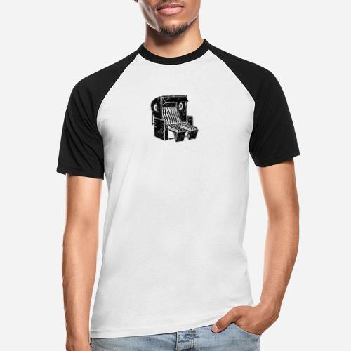 Strandkorb Illustration von Clarissa Schwarz - Männer Baseball-T-Shirt