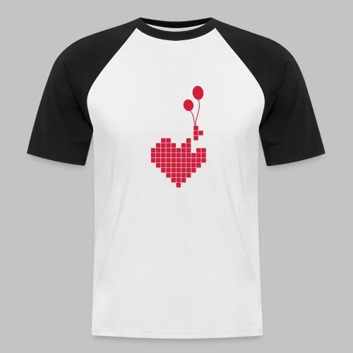 heart and balloons - Men's Baseball T-Shirt