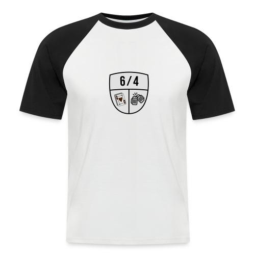 6/4 - Mannen baseballshirt korte mouw