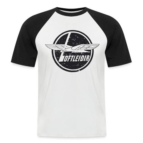 Loftleidir svart Vintage - Kortermet baseball skjorte for menn