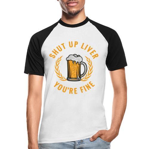 Beer Design - Miesten lyhythihainen baseballpaita