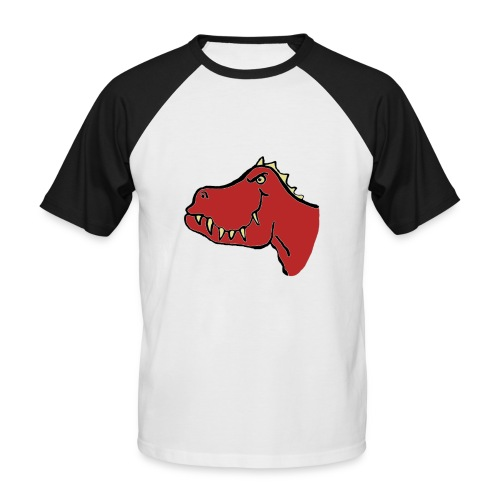 T Rex, Red Dragon - Men's Baseball T-Shirt
