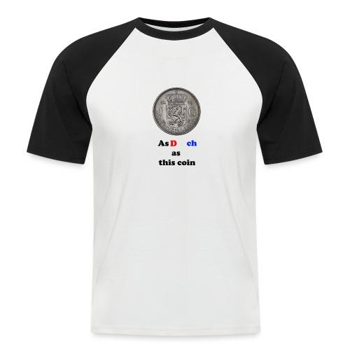 Hollandse Gulden - Mannen baseballshirt korte mouw