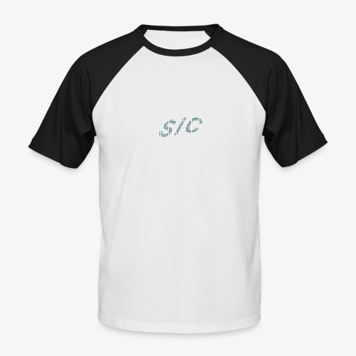Letter logo black t-shirt - Men's Baseball T-Shirt