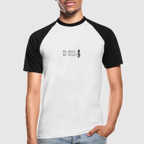 No guts No glory logo - Mannen baseballshirt korte mouw