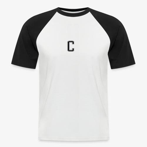 thiccc logo Black and White - Men's Baseball T-Shirt