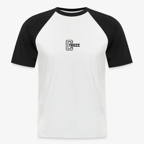 thiccc logo White - Men's Baseball T-Shirt