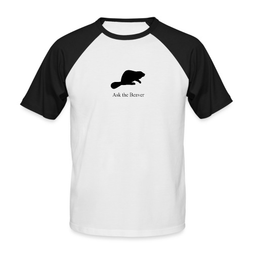 Ask the Beaver Collection [clean collection] - Männer Baseball-T-Shirt