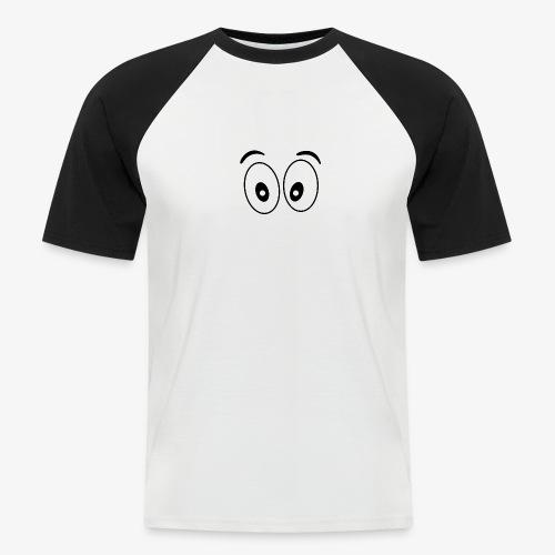 wide eye 1 - Men's Baseball T-Shirt