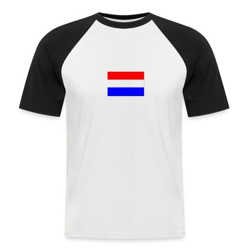vlag nl - Mannen baseballshirt korte mouw