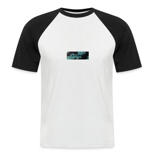 Extinct box logo - Men's Baseball T-Shirt