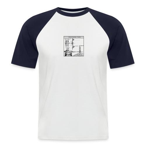 W.O.T War tactic, tank shot - Men's Baseball T-Shirt