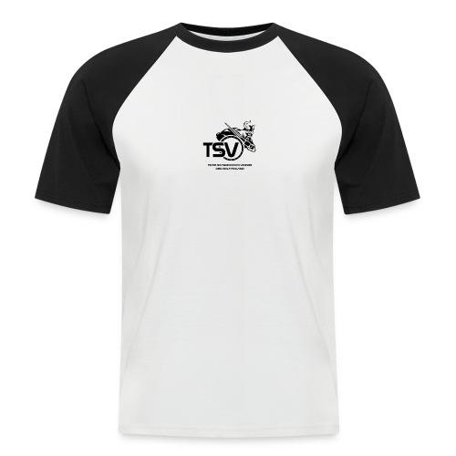 TSV logo koko musta - Miesten lyhythihainen baseballpaita
