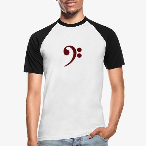 Bass-Key-4 - Männer Baseball-T-Shirt