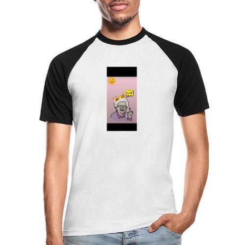 Crazy Grandma - Männer Baseball-T-Shirt