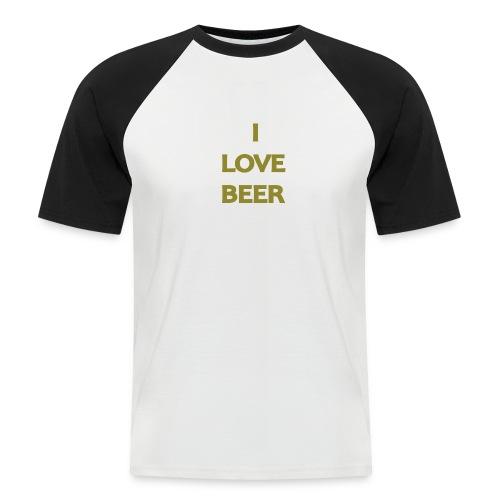 I LOVE BEER - Maglia da baseball a manica corta da uomo
